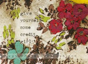 credit, girl