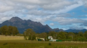 Mt Barney - part of a mountain range south of Boonah. We had wonderful views of this and other mountains from our block halfway up Mt French