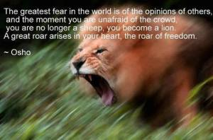 Roar like a lion