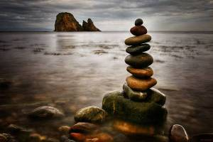 Standing stones at sea